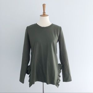 Betsy's Boutique Long Sleeve Ruffle Bottom Top